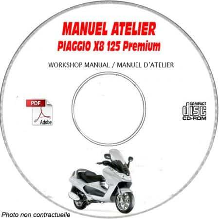X8 125 PREMIUM Euro3 -07 Manuel Utilisateur PIAGGIO CDROM FR