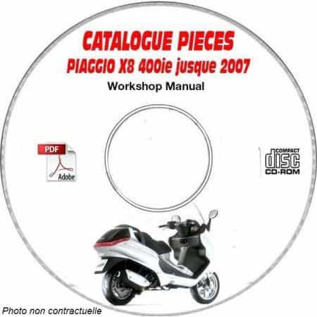 X8 400 ie -07 Catalogue Pièces CDROM PIAGGIO Anglais