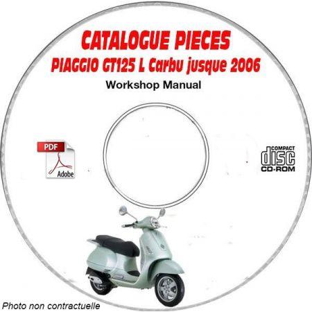 GT 125 L Carbu -06 Catalogue Pièces CDROM PIAGGIO Anglais