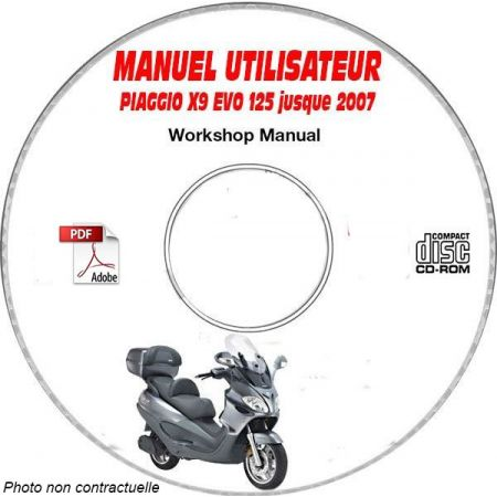 X9 EVOLUTION 125 -07 Manuel Utilisateur CDROM PIAGGIO FR