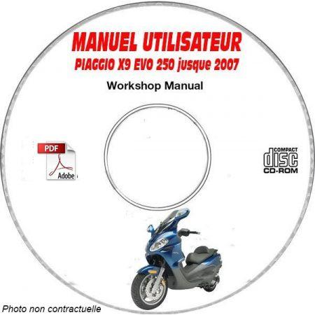 X9 EVOLUTION 250 -07 Manuel Utilisateur CDROM PIAGGIO FR