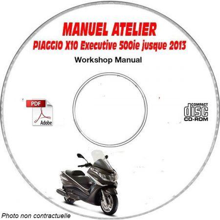 X10 EXECUTIVE 500ie ABS -13 Manuel Utilisateur PIAGGIO CDROM Anglais