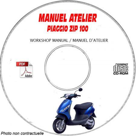 ZIP 100 4 temps -08 Manuel Atelier PIAGGIO CDROM FR