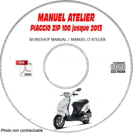 ZIP 100 4 temps -13 Manuel Atelier CDROM PIAGGIO FR