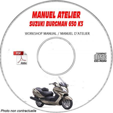 BURGMAN 650 2003 Manuel Atelier CDROM SUZUKI Anglais