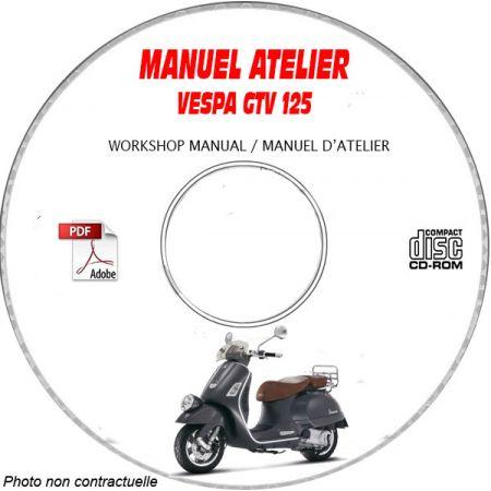 GTV 125 -07 Manuel Atelier CDROM VESPA FR