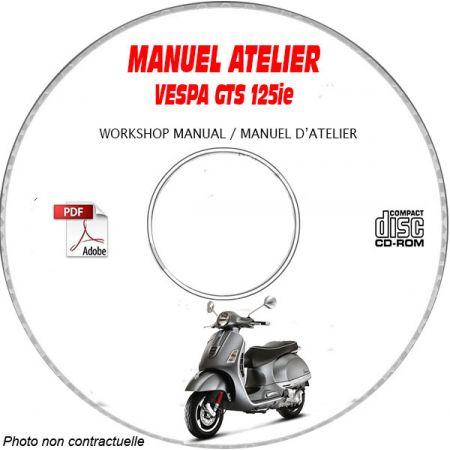 GTS Super 125 i.e. 2013 Manuel Atelier CDROM PIAGGIO FR
