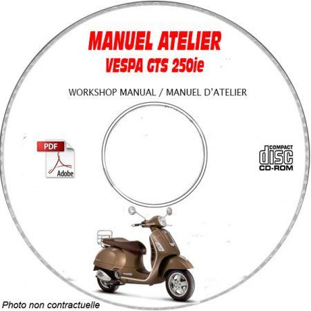 GTS 250ie -07 Manuel Atelier CDROM VESPA FR