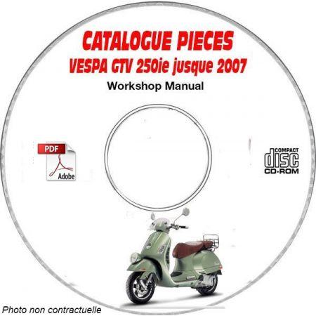 GTV 250ie -07 Catalogue Pièces CDROM VESPA Anglais