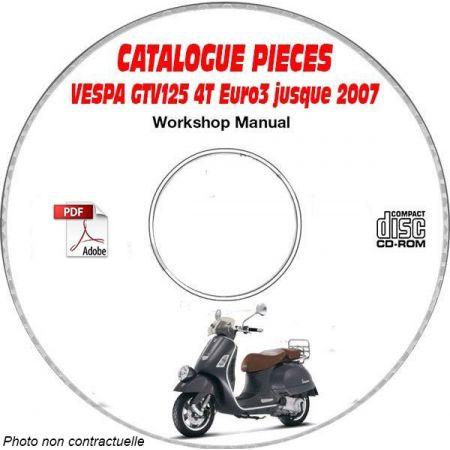 GTV 125 4T Euro3 -07 Catalogue Pièces CDROM VESPA Anglais