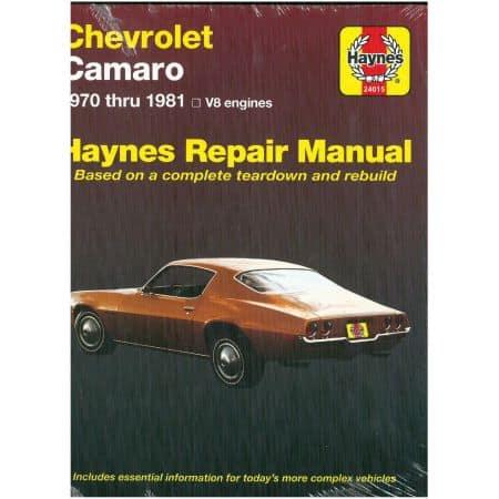 Camaro 70-81 V8 Revue technique Haynes CHEVROLET Anglais
