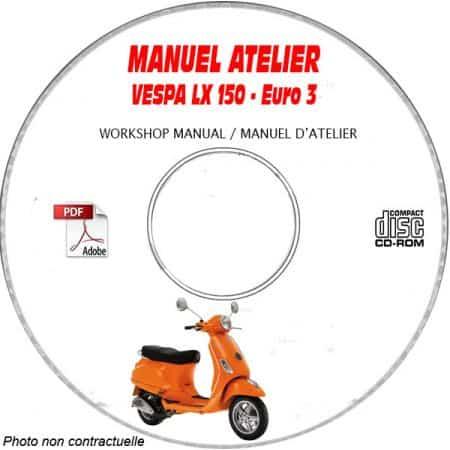 MANUEL D'ATELIER LX 150 Euro 3