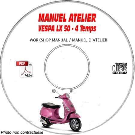 LX 50 4 Temps -08 Manuel Atelier CDROM VESPA FR