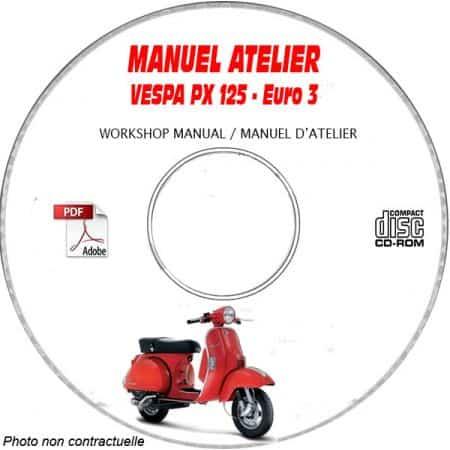 PX 125 Euro 3 -07 Manuel Atelier CDROM VESPA FR