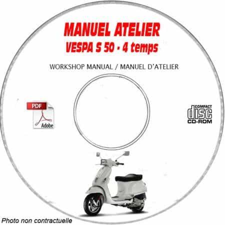 S50 4T 4V -08 Manuel Atelier CDROM VESPA FR