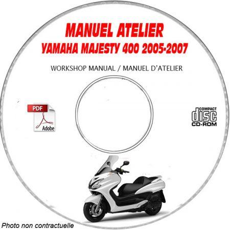 MAJESTY 400 05-07 Manuel Atelier CDROM YAMAHA Anglais