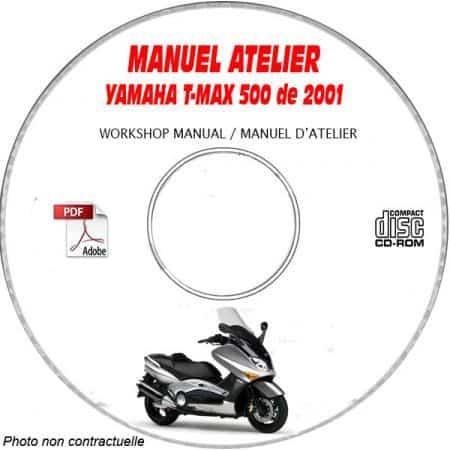 MANUEL D'ATELIER T-MAX 500 2001