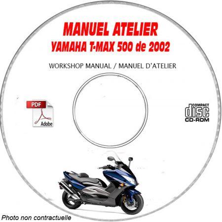 T-MAX 500 02 Manuel Atelier CDROM YAMAHA FR