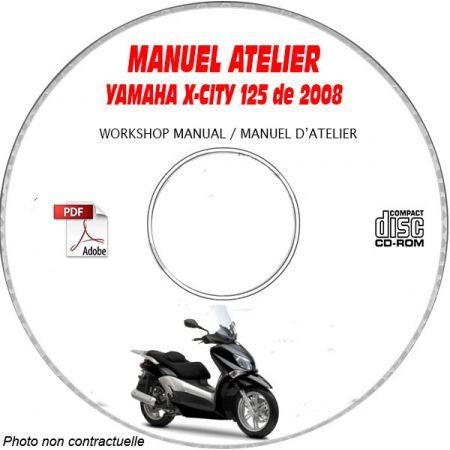 X-CITY 125 08 Manuel Atelier CDROM YAMAHA FR