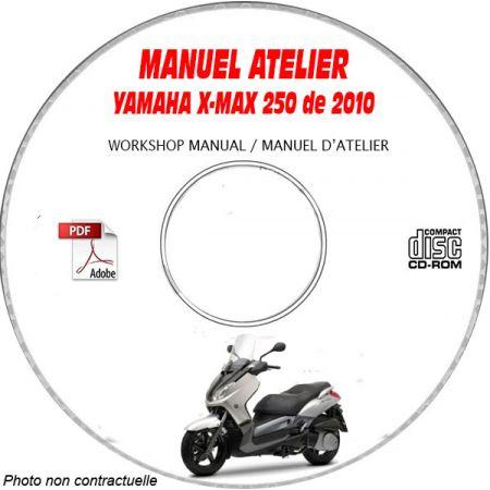 X-MAX 250 2010 Manuel Atelier CDROM YAMAHA