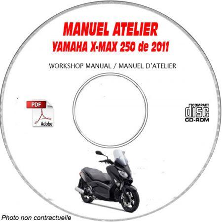X-MAX 250 2011 Manuel Atelier CDROM YAMAHA