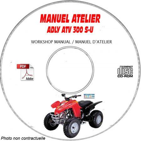 ATV-300SU - Manuel Atelier CDROM ADLY Anglais