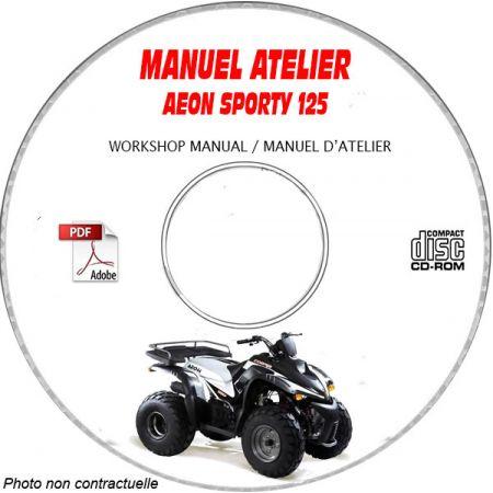 SPORTY 125 Manuel Atelier CDROM AEON Anglais