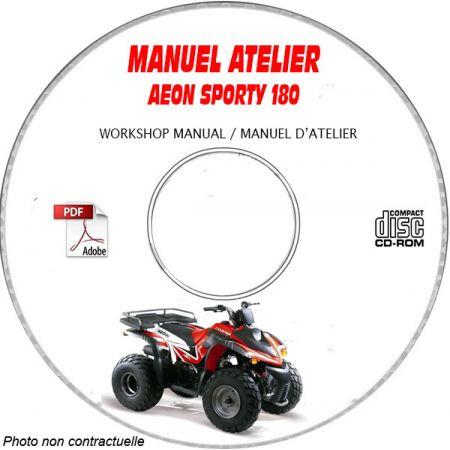 SPORTY 180 Manuel Atelier CDROM AEON Anglais