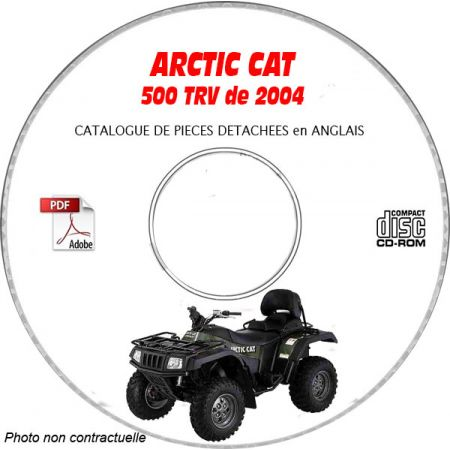500 TRV 04 - Catalogue Pieces CDROM ARCTIC-CAT Anglais