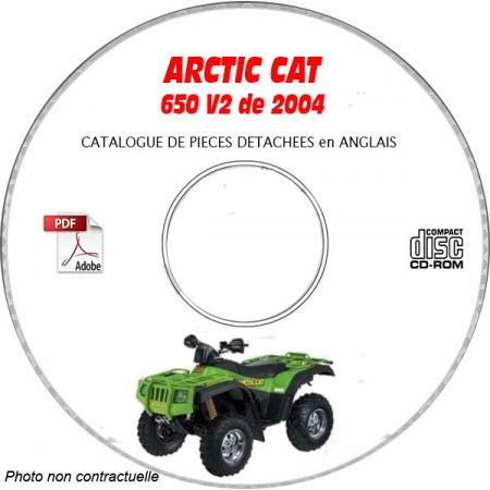 650 V2 04 - Manuel Pieces CDROM ARCTIC-CAT Anglais