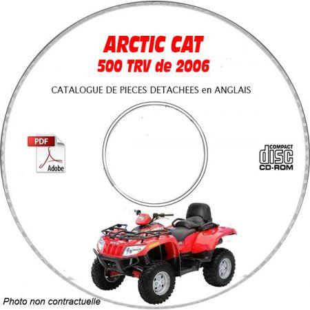 500 TRV 06 - Manuel Pieces CDROM ARCTIC-CAT Anglais