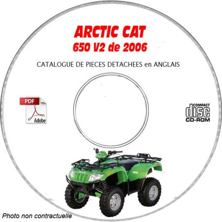 650 V2 06 - Manuel Pieces CDROM ARCTIC-CAT Anglais