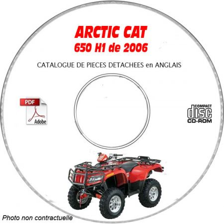 650 H1 06 - Manuel Pieces CDROM ARCTIC-CAT Anglais