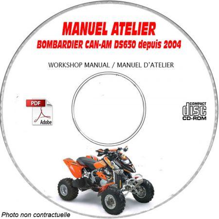 DS 650 2004 Manuel Atelier CDROM BOMBARDIER Anglais