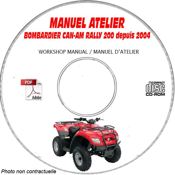 ally 200 2004 Manuel Atelier CDROM BOMBARDIER Anglais