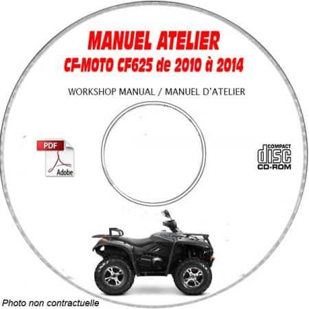 CF625 10-14 - Manuel Atelier CDROM CF-MOTO Anglais