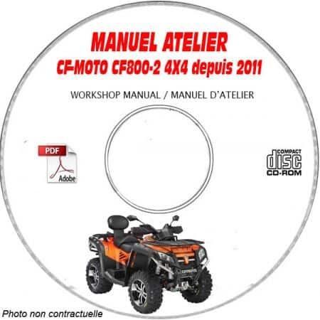 CF800-2 TERRALANDER -11 Manuel Atelier CDROM CF-MOTOS Anglais