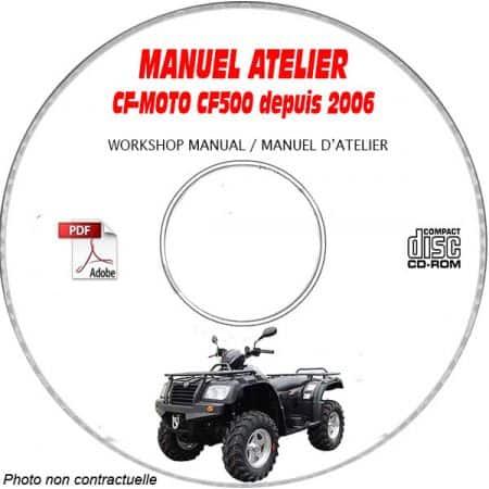 CF500 -06 Manuel Atelier CDROM CF-MOTOS Anglais