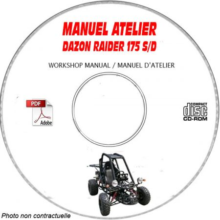 RAIDER 175 S/D -04 Manuel Atelier CDROM DAZON Anglais