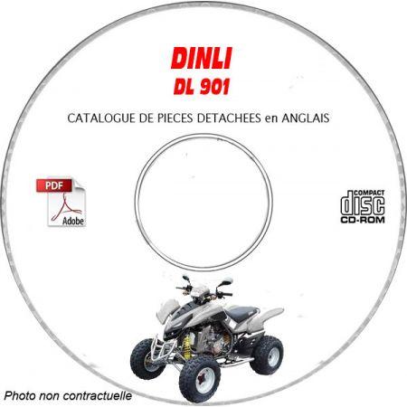 DL901 -07 Catalogue Pièces CDROM DINLI Anglais