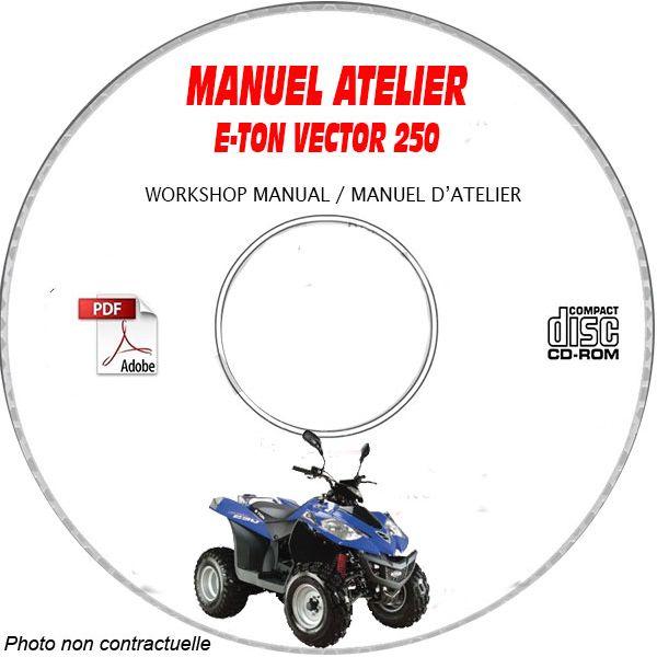 VECTOR 250 Manuel Atelier CDROM E-TON Anglais