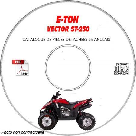 VECTOR ST-250 -05 Catalogue Pièces CDROM E-TON Anglais
