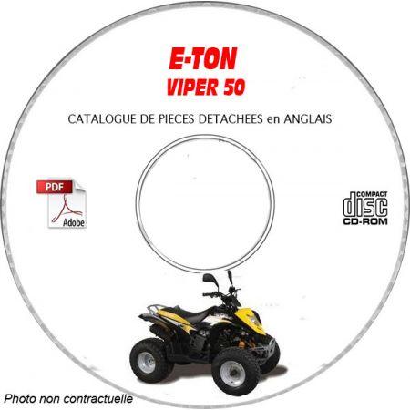 VIPER 50 Catalogue Pièces CDROM E-TON Anglais