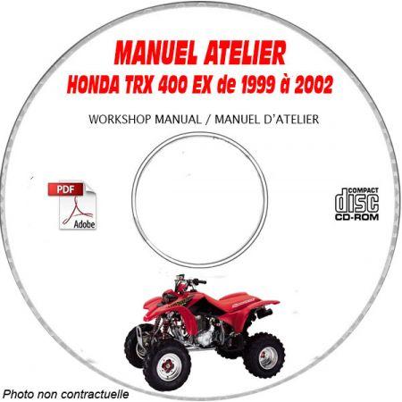 400 EX FOURTRAX 99-02 Manuel Atelier CDROM HONDA Anglais