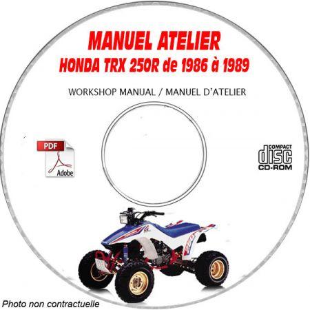 TRX 250R FOURTRAX 86-89 Manuel Atelier CDROM HONDA Anglais