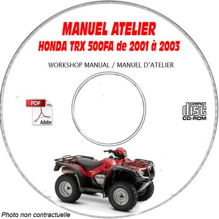 TRX 500FA RUBICON 01-03 Manuel Atelier CDROM HONDA Anglais