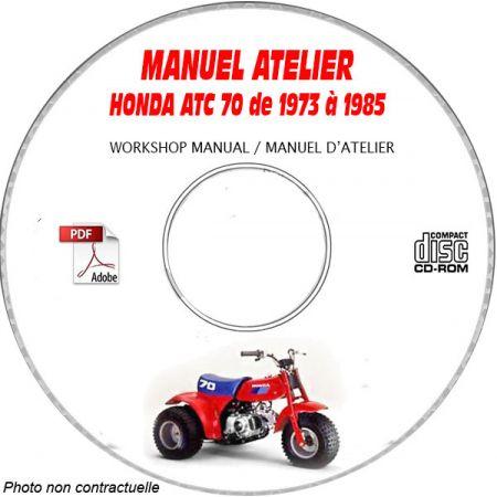 ATC 70 73-85 Manuel Atelier CDROM HONDA Anglais