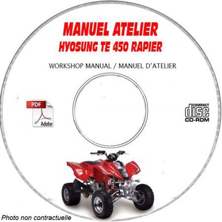 TE450 RAPIER - Manuel Atelier CDROM HYOSUNG Anglais