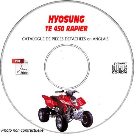 TE450 RAPIER - Catalogue Pieces CDROM HYOSUNG Anglais