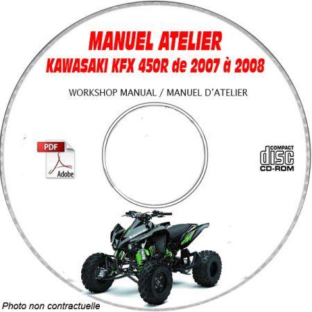 KFX 450R 08 Manuel Atelier CDROM KAWASAKI FR